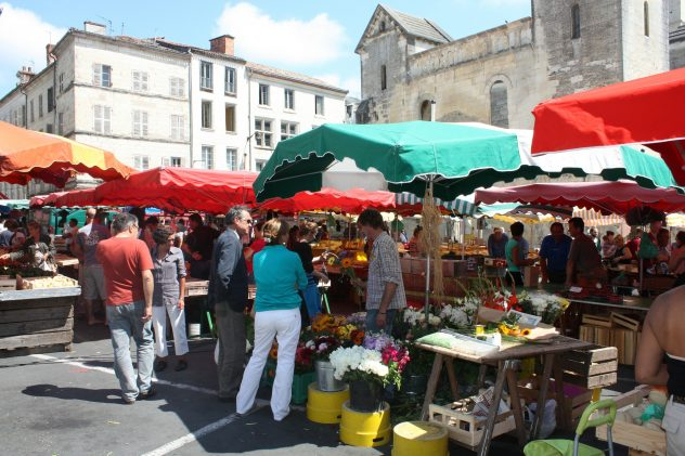 Traditional market in France